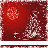 Christmas card with stars and snowflakes Royalty Free Stock Images