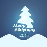 Christmas Card 2015. Style Christmas Card 2015 in Blue Colors vector illustration