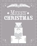 Christmas card in the style of carving paper vector Stock Photo