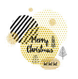 Christmas card with Stylish gold Christmas Stock Photography