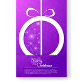 Christmas card with stylized Christmas ball Royalty Free Stock Photography