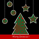 Christmas card with stylized tree Royalty Free Stock Photos