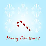 Christmas card with a sugar candy Royalty Free Stock Photo