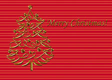 Christmas Card Template. This is a Christmas greeting template in reds and golds Vector Illustration