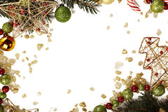 Christmas card template. Christmas greeting card with white background Royalty Free Stock Photo