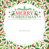 Christmas card template Royalty Free Stock Photos