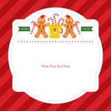 Christmas card template. This is Christmas card template design. Vector file Stock Photos