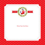 Christmas card template Royalty Free Stock Photography