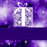 Christmas card template. EPS 8 Royalty Free Stock Photo