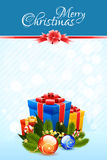Christmas Card Template Royalty Free Stock Photo