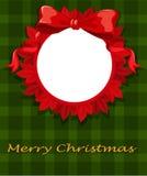 A christmas card template Stock Photo