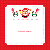 Christmas card template with Santa Claus. This is Christmas card template design. Vector file Stock Photo