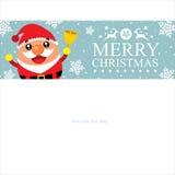 Christmas card template Santa Claus Stock Photos