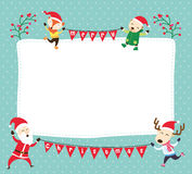 Christmas card template Stock Image