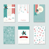 Christmas card template set Stock Photos