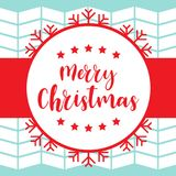 Christmas card template Stock Photography