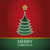 Christmas card template vector Royalty Free Stock Images