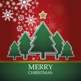 Christmas card template vector Royalty Free Stock Photos