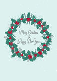 Christmas card template Stock Photos