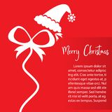 Christmas card template Royalty Free Stock Images