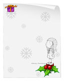 A christmas card template with a young girl above the poinsettia Stock Photos