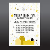 Christmas card templates. Christmas Posters set. Vector illustration. Template for Greeting Scrapbooking, Stickers, Congratulation Stock Images