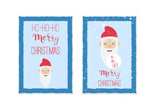 Christmas card templates with santa claus  Royalty Free Stock Photos
