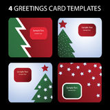 Christmas Card Templates Royalty Free Stock Image