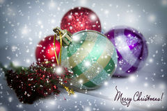 Christmas card; text Royalty Free Stock Images