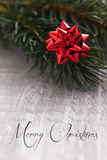 Christmas card with text merry christmas Stock Image