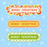 Christmas card with textbox. Stock Photography