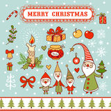 Christmas card with textbox. Stock Image