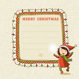 Christmas card with textbox. Vector illustration on the theme of the new year vector illustration