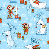 Christmas card with textbox. Vector illustration on the theme of the new year Stock Photo