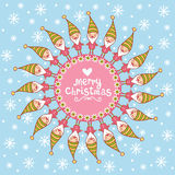 Christmas card with textbox. Royalty Free Stock Photo