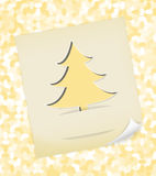 Christmas card with textured tree Royalty Free Stock Image
