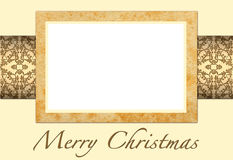 Christmas card to add your picture Stock Images