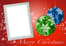 Christmas card to add your picture Royalty Free Stock Photography