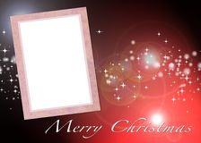Christmas card to add your picture Stock Photo