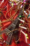 Christmas card with Tour d'Eiffel Royalty Free Stock Photos