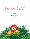 Christmas card - toy with decoration Balls Royalty Free Stock Photo