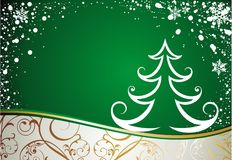 Christmas card with tree Royalty Free Stock Images