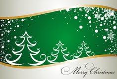 Christmas card with tree Stock Photo