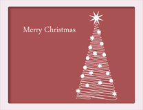 Christmas card with tree. Christmas card with spiral tree Royalty Free Stock Image