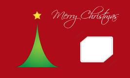 Christmas card with tree Royalty Free Stock Photography