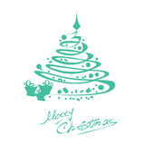 Christmas card with tree Royalty Free Stock Photo