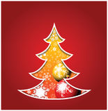 Christmas card with tree Royalty Free Stock Photos