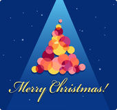 Christmas Card with a tree Royalty Free Stock Photography