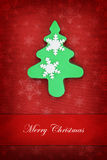 Christmas card with tree cookie Royalty Free Stock Photography