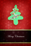 Christmas card with tree cookie Royalty Free Stock Photo